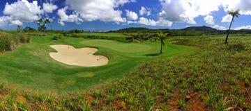 Pole golfowe panorama obraz royalty free