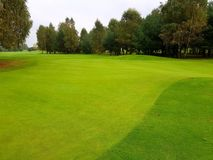 Pole golfowe podczas summe Obrazy Royalty Free