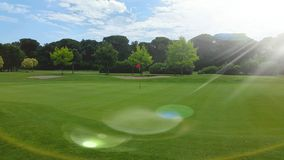 Pole golfowe przy Adriatyckim kijem golfowym Cervia Fotografia Stock