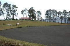 Pole golfowe Ranikhet, Uttarakhand, India zdjęcia royalty free