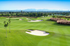 Pole golfowe sport Zdjęcia Royalty Free