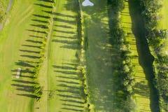 Pole golfowe w Bandung mieście fotografia stock