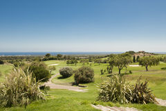 Pole Golfowe w Hiszpania (Majorca) fotografia royalty free