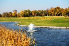 Pole golfowe w Mezhigirya Obrazy Stock