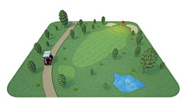 Pole golfowe świadczenia 3 d Obraz Stock