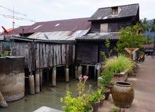 Pole-Haus in alter Stadt Lanta Stockfoto