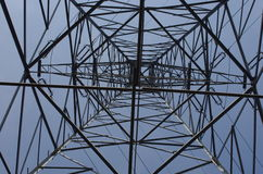 Pole of high tension Stock Image
