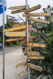 Pole information in Fort Bragg, California Stock Photos
