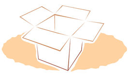pole karton ilustracji