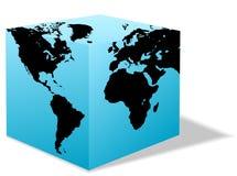 pole karton ziemi globe square świat Obraz Stock