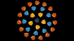 pole kolorowego tło Kolorowi sześciany Rusza się Bezszwową pętlę ilustracji