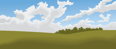 pole krajobrazu ilustracja wektor