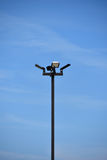 Pole and light fixture Royalty Free Stock Images