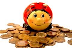 pole monety euro pieniądze Zdjęcia Stock