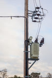 Pole Mounted Transformer Royalty Free Stock Photo