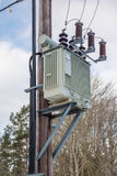 Pole Mounted Transformer Royalty Free Stock Photography