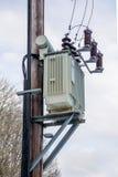Pole Mounted Transformer Royalty Free Stock Image