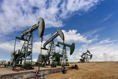 Pole naftowe obrazy royalty free