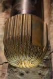 Pole naftowe diamentowego świderu głowa Obrazy Royalty Free