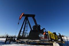 Pole Naftowe Pompowy Jack zdjęcia stock
