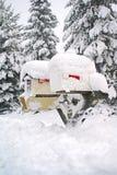 pole objętych poczty śnieg Zdjęcie Royalty Free