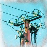 Pole and power line Royalty Free Stock Image