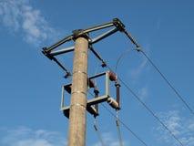 Pole power lines Stock Photos