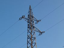 Pole power lines Stock Images