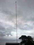 Pole radio transmitter. Pole radio transmitter AM (Amplitude Modulation Stock Photo