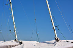 Pole of sailing boat Stock Photo