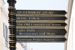 Pole sign in the streeto of Gibraltar Royalty Free Stock Image