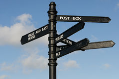 Pole Signage In Cornwall Stock Image