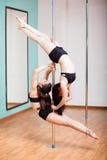 Pole som beautifully tillsammans dansar Royaltyfri Bild