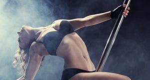Pole-Tänzer Stockfoto