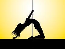 Pole-Tänzer Lizenzfreies Stockbild