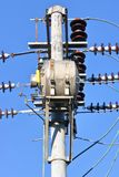 Telephone Pole and Transformer Royalty Free Stock Photos