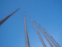 Pole und Himmel Lizenzfreies Stockfoto