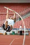 Pole Vault. Image of Roslinda Samsu (current South East Asian champion) competing in the women's Pole Vault event at the MAAU-MSN All-Comers Meet 2007, held at Royalty Free Stock Photo