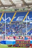 Pole vault athlete at Diamond League. In Rome, Italy in 2016 stock photo