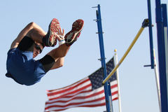 Pole Vault Competition royalty free stock images
