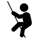 Pole vault pictogram icon Royalty Free Stock Photography