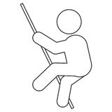 Pole vault pictogram icon Stock Photo