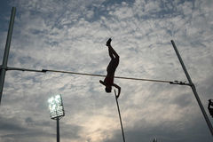 Pole Vault silhouette Stock Photography