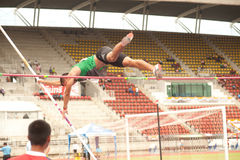 Pole Vault in Thailand Open Athletic Championship 2013. Royalty Free Stock Photos