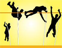 Pole Vault Vector Stock Images