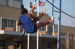 Pole Vaulter Royalty Free Stock Photography
