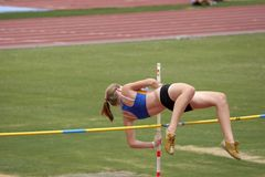 Pole Vaulter Royalty Free Stock Images