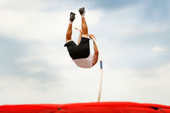 Pole vaulter Stock Image