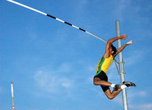 Pole-Vaulting Royalty Free Stock Images