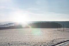 Pole w zimie Fotografia Royalty Free